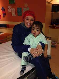 samen met mama C aan het wachten om de operatiekamer in te gaan
